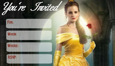 Beauty and the Beast 2017 free party printables
