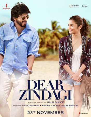 Poster Of Dear Zindagi 2016 Hindi 700MB p  Watch Online Free Download world4ufree.org