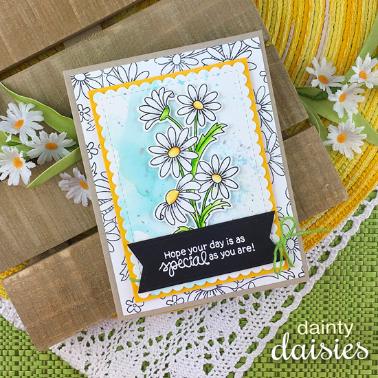 Daisy Card by Jennifer Jackson | Dainty Daisies Stamp Set by Newton's Nook Designs #newtonsnook #handmade
