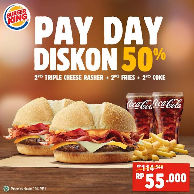 #BurgerKing - #Promo PAYDAY & Dapatkan Diskon 50% (s.d 31 Maret 2019)