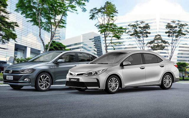 Toyota Corolla 2018 x Volkswagen Virtus