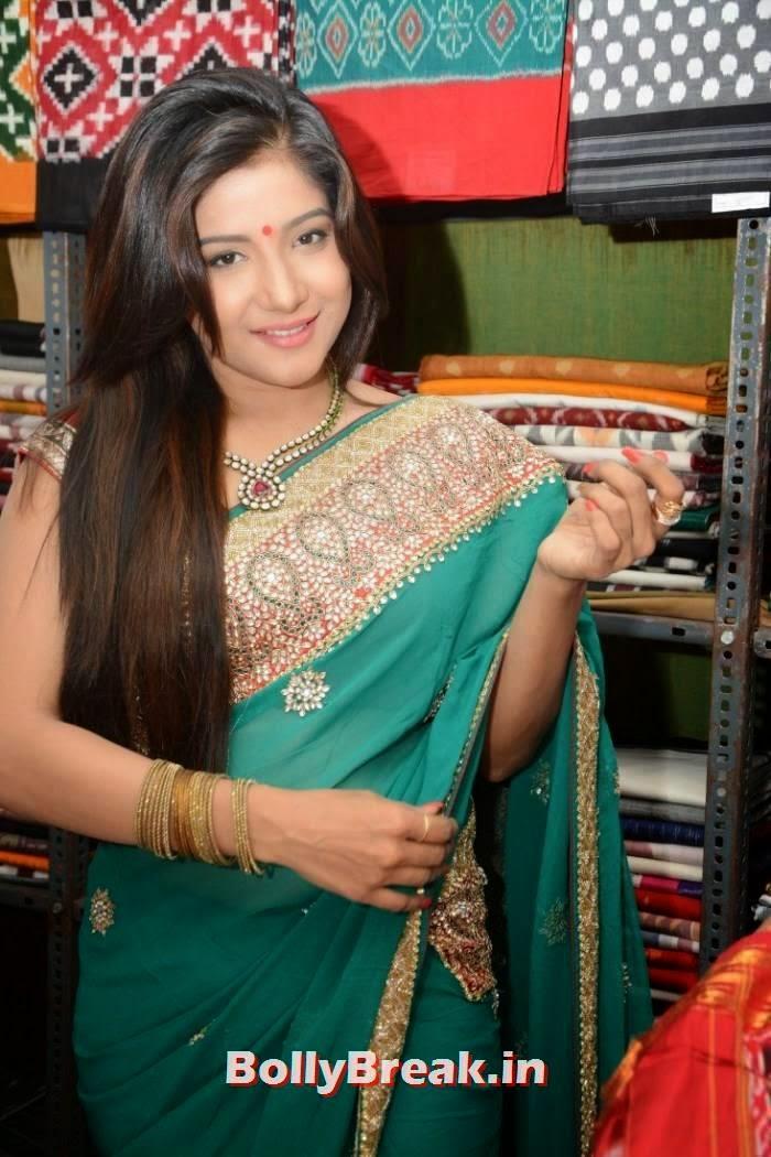 Sakshi Agarwal images, Sakshi Agarwal Hot Hd mages in Green Saree