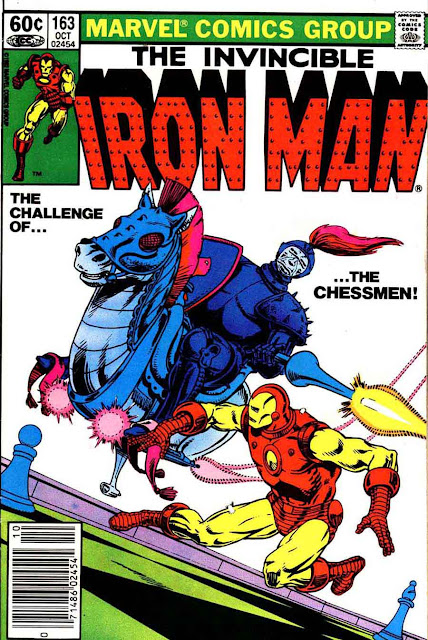 Iron Man v1 #163 marvel comic book cover art by Jim Starlin