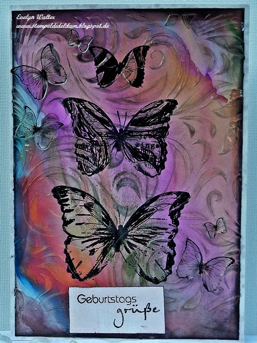 Tim Holtz inspired Card - DT-Work for Country View Challenge