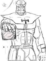 Marvel Character Thanos Best Coloring Sheet