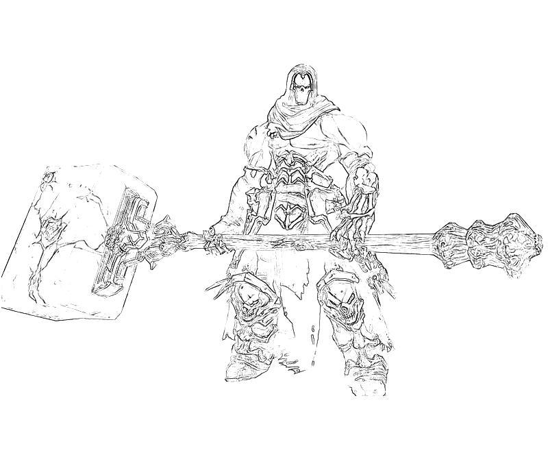 black death coloring pages | 10 Darksiders II Death Weapon | Yumiko Fujiwara
