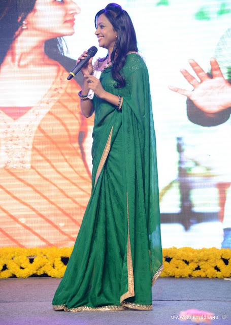 Anchor Suma in Plain Green Georgette Saree