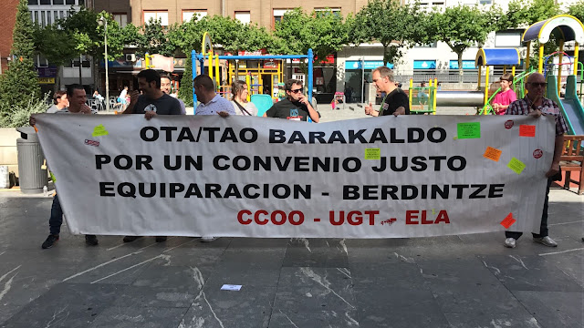 Protesta de los trabajadores de la OTA