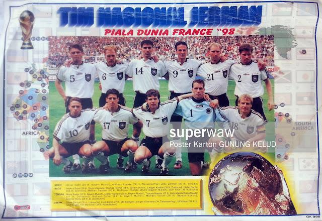 GERMANY DEUTCHSLAND WORLD CUP 1998