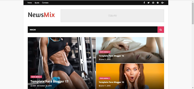 Download NewsMix Blogger Template Responsivo Free
