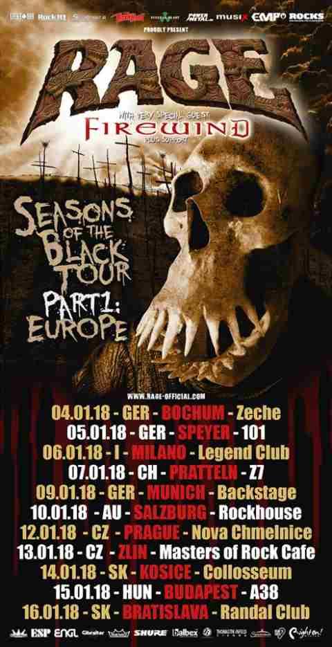 FIREWIND: Ευρωπαϊκή περιοδεία με τους RAGE