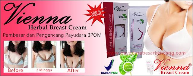 Jual Vienna Breast Cream Lotion Pembesar dan Pengencang Payudara Original BPOM Termurah