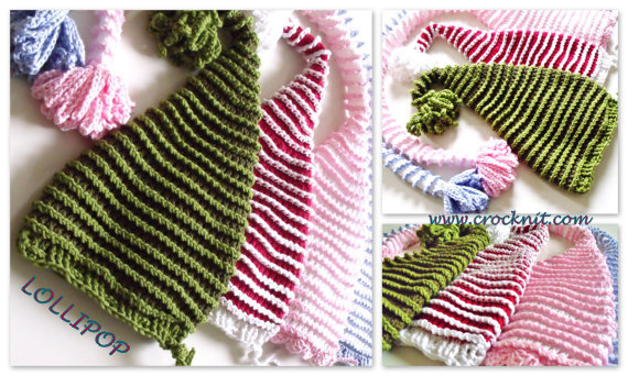 crochet patterns, how to crochet, baby hats, elf, pixie, santa, long tail, newborn,