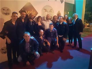 """Fotografía del grupo en la sala Kerala de Madrid con Félix Crujera """"El Sevillano"""""""