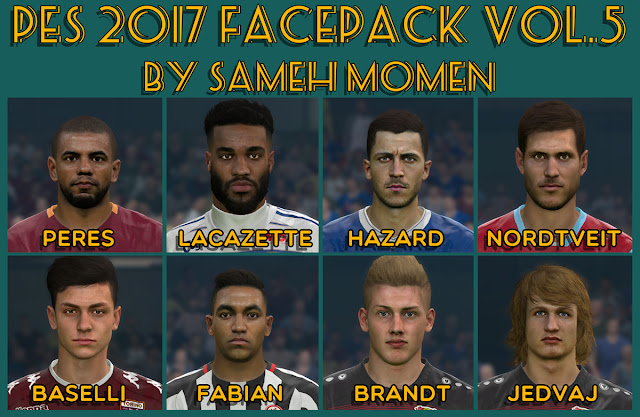 PES 2017 facepack vol.5 by Sameh Momen