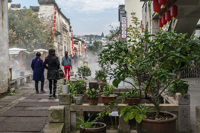 Rue piétonne à Tunxi