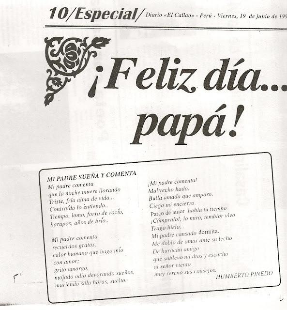 Humberto Pinedo Mendoza FESTEJANDO EL DIA DEL PADRE