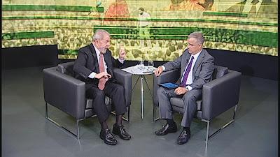Lula concede entrevista a Kennedy Alencar (Divulgação/SBT)