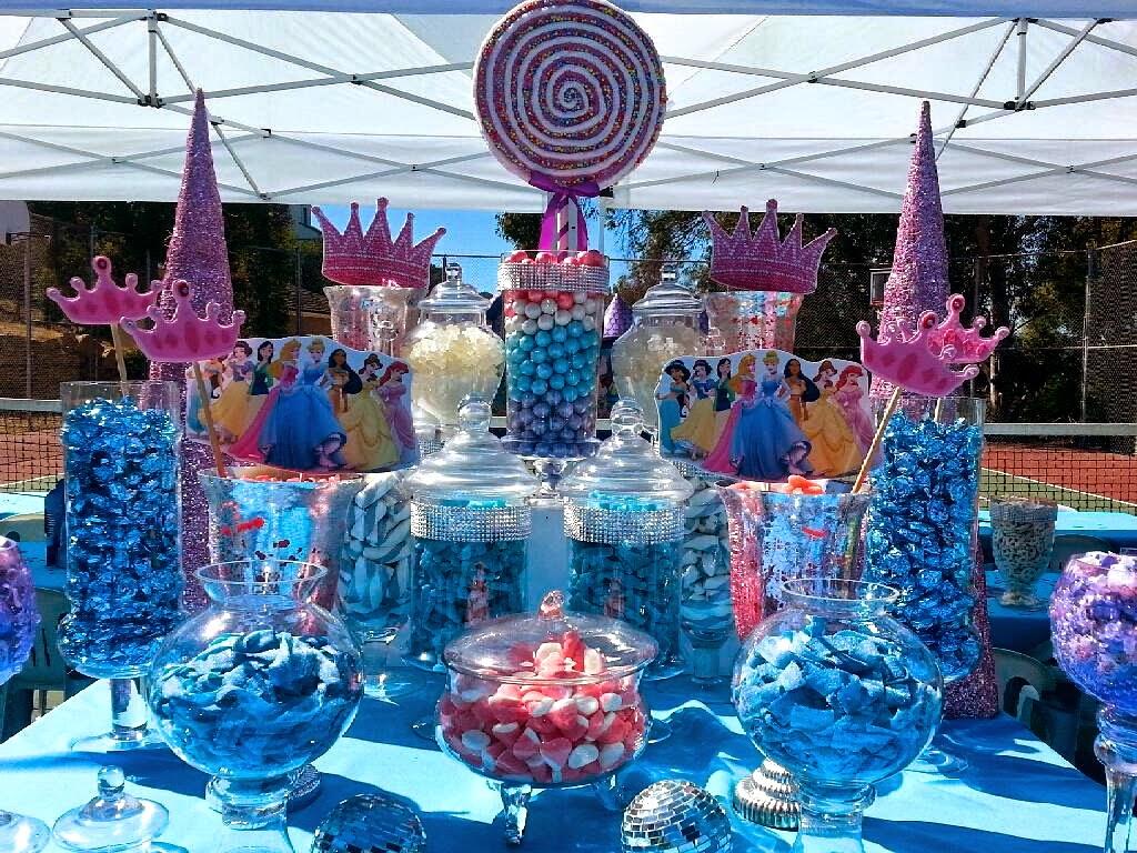 disney princess party a super sweet candy station filled. Black Bedroom Furniture Sets. Home Design Ideas