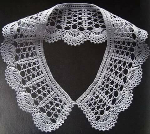 Patrón #1778: Cuello a Crochet