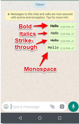 Begini Cara Membuat Teks WhatsApp Tebal, Miring, Dicoret, dan Monospace 4