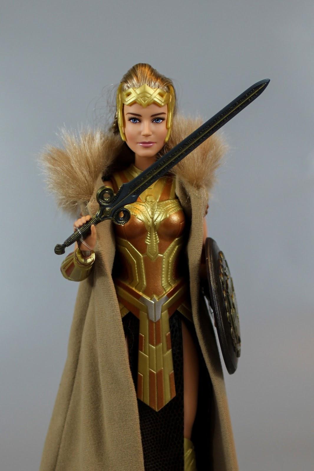 New Barbie Wonder Woman Queen Hippolyta Dc Comics Doll Black