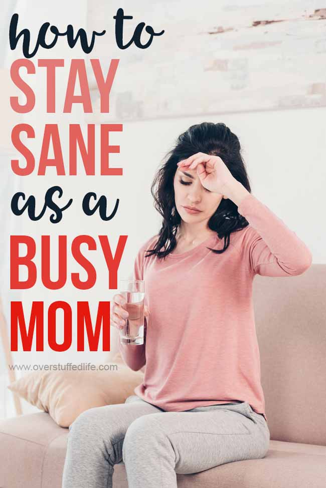 Moms are busy. Motherhood is messy. If you are a tired mom, try these 6 ways any busy mom can lessen stress and stay sane.