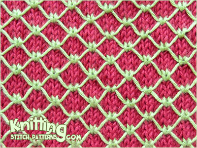 Two Coloured Royal Quilting  |  Knitting Stitch Patterns