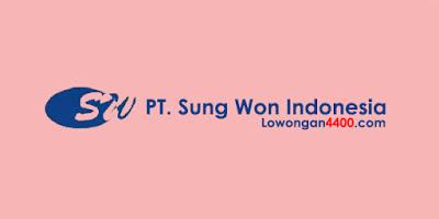 Lowongan Kerja PT. Sung Won Indonesia Karawang