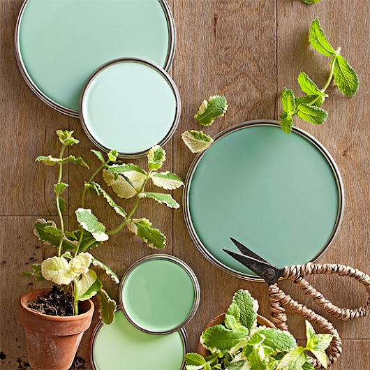Mint (and Gold) Up-cycled Mirrors