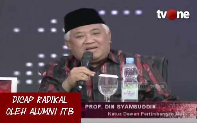Dicap Radikal Oleh Alumni ITB, Din Syamsuddin: Saya Hanya Ketawa