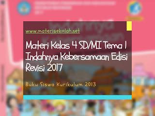 Materi Kelas 4 SD/MI Tema 1 Edisi Revisi 2017