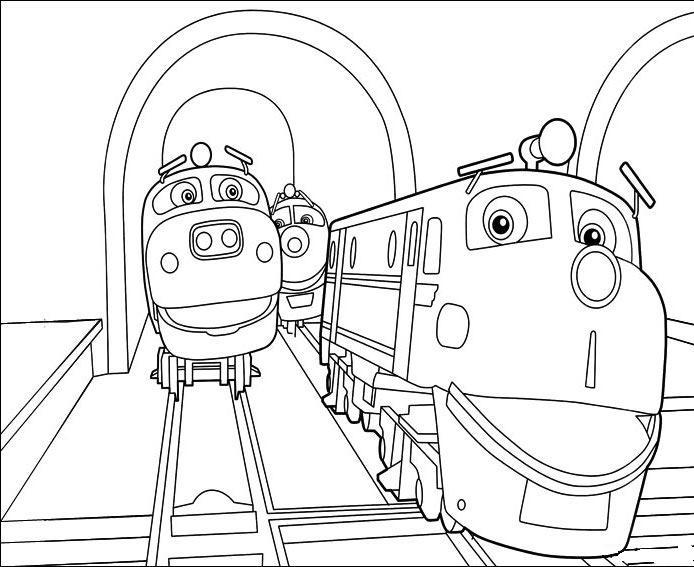 Krafty Kidz Center: Chuggington Train Coloring Sheets
