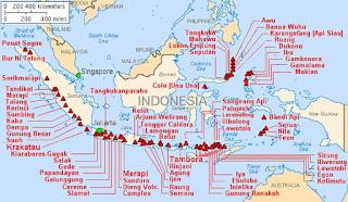 Gambar peta gunung berapi di Indonesia