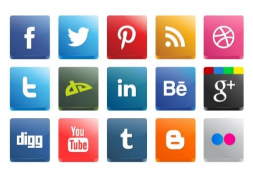 Integrate social media buttons