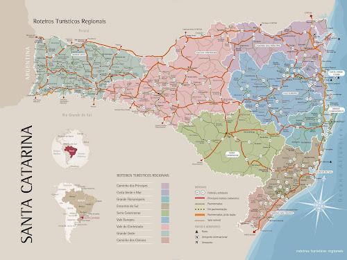 Mapa turístico de Santa Catarina
