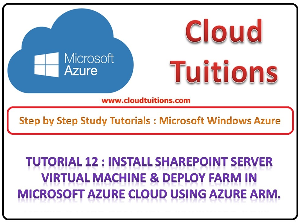 Step By Step Microsoft Azure Resource Manager Training Install Procedure.
