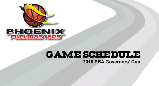 LIST: Phoenix Fuelmasters Game Schedule 2018 PBA Governors' Cup