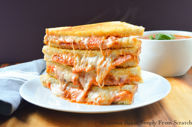 Easy to make Pepperoni Pizza Grilled Cheese Sandwiches.