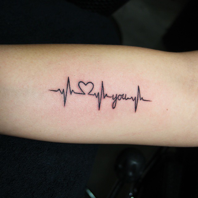 12 Unique Heartbeat Tattoo Designs