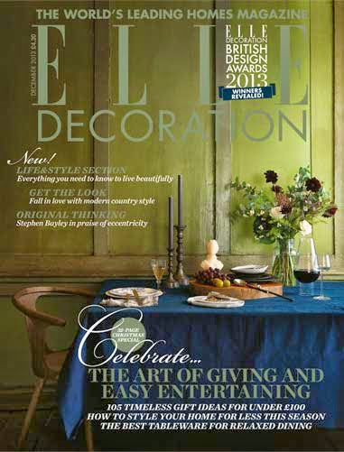 my plates on cover of elle deco uk december issue 2013