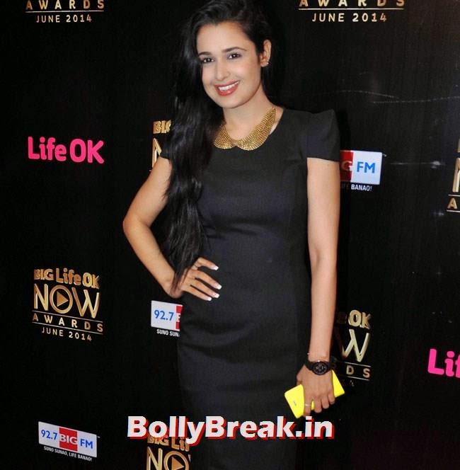 Yuvika Choudhary, Life OK Now Awards 2014 Red Carpet Pics