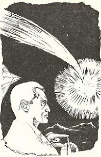 Illustration by Martin Frew accompanying the original publication in Nebula Science Fiction magazine of short story Question Answered by Mark Trent