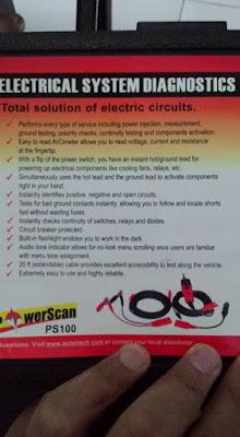 petunjuk penggunaan power scan