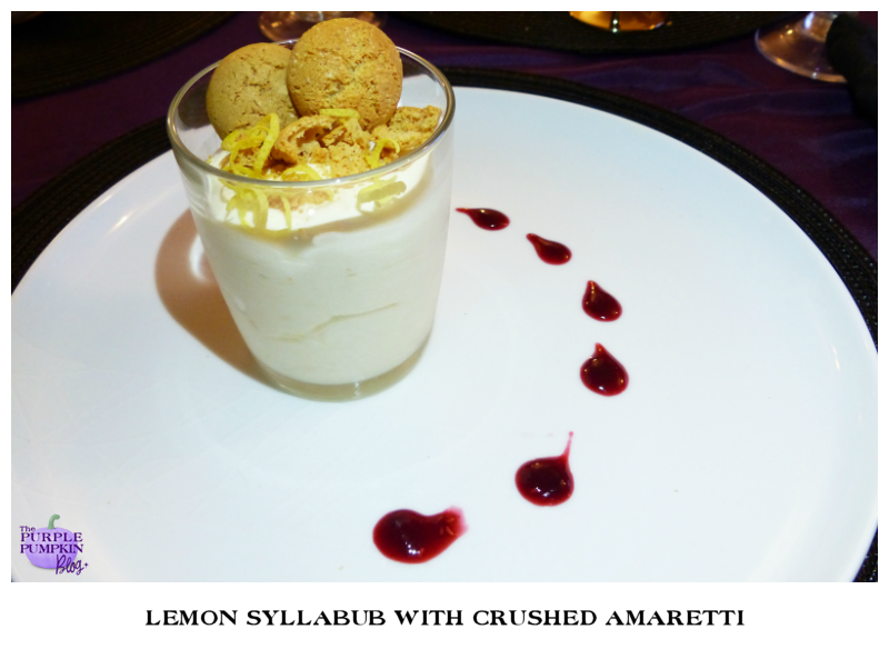 Lemon Syllabub with Crushed Amaretti