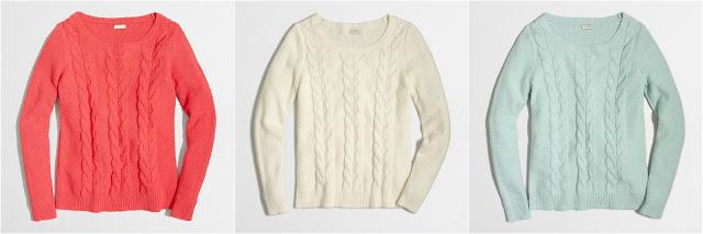 Cable Scoopneck Sweater $23 (reg $80)