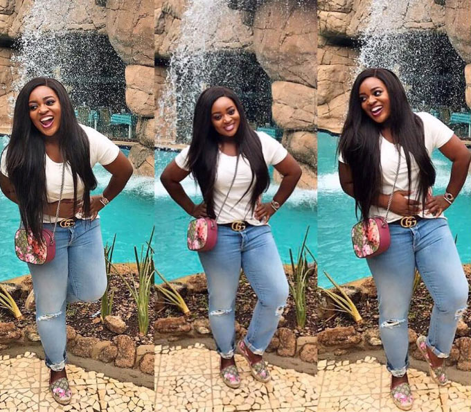 Ghana actress Jackie Appiah visits South African waterfall + funny quote