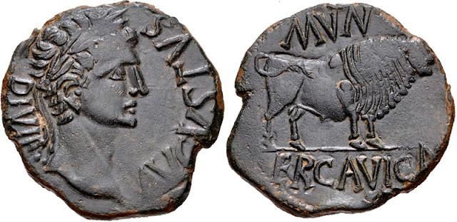 Monedas de la ciudad romana de Ercávica 007