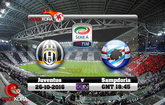 مشاهدة مباراة يوفنتوس وسامبدوريا اليوم 26-10-2016 في الدوري الإيطالي