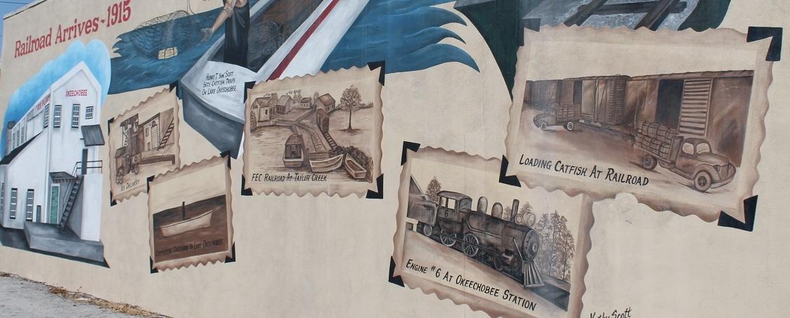 Murales en el Downtown de Okeechobee